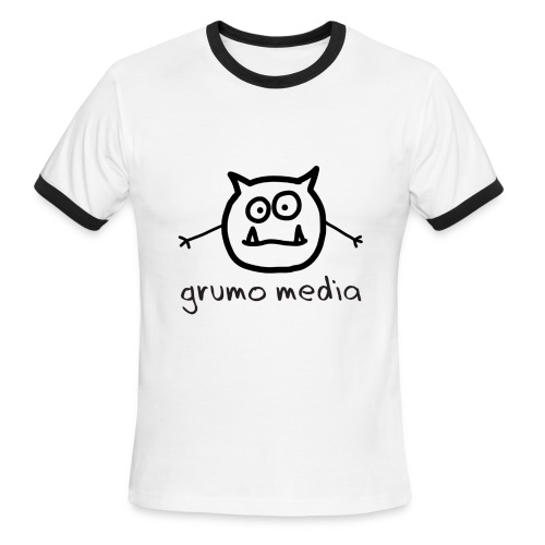 Grumo Media with GRR! on back - Ringer Tee for Men - Men's Ringer T-Shirt