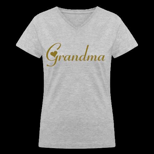 Grandma - Women's V-Neck T-Shirt