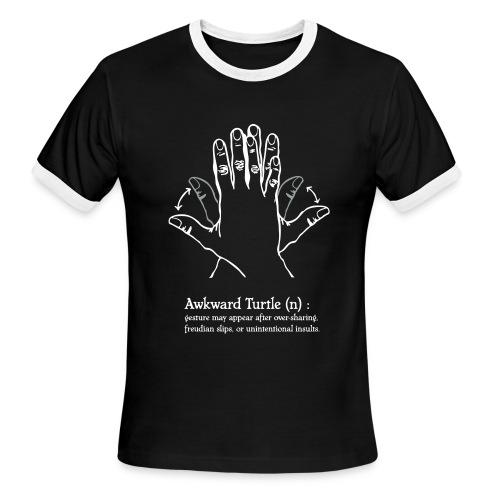 Mens' Awkward Turtle RingerTee - Men's Ringer T-Shirt