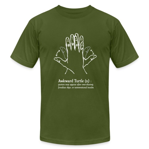 Womens' Awkward Turtle Tee - Men's Fine Jersey T-Shirt