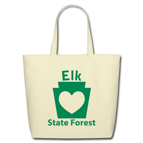 Elk State Forest Keystone Heart - Eco-Friendly Cotton Tote