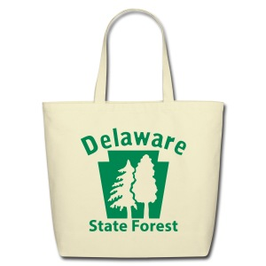 Delaware State Forest Keystone w/Trees - Eco-Friendly Cotton Tote