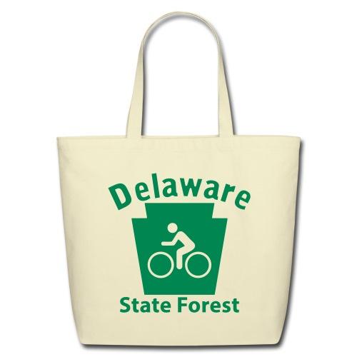 Delaware State Forest Keystone Biker - Eco-Friendly Cotton Tote