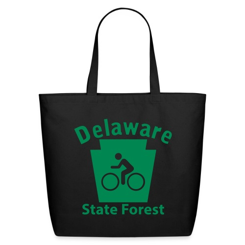 Delaware State Forest Keystone Biker - Eco-Friendly Cotton Tote
