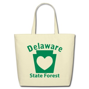 Delaware State Forest Keystone Heart - Eco-Friendly Cotton Tote