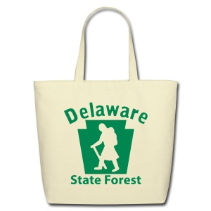 Delaware State Forest Keystone Hiker (female) - Eco-Friendly Cotton Tote