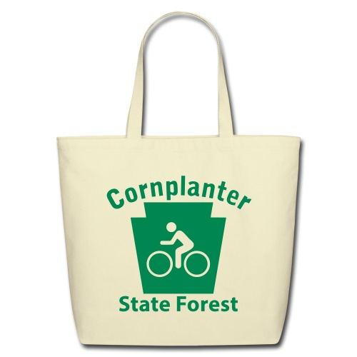 Cornplanter State Forest Keystone Biker - Eco-Friendly Cotton Tote
