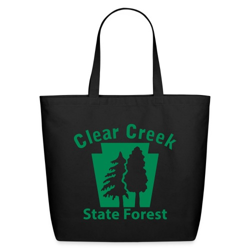 Clear Creek State Forest Keystone w/Trees - Eco-Friendly Cotton Tote