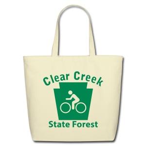 Clear Creek State Forest Keystone Biker - Eco-Friendly Cotton Tote