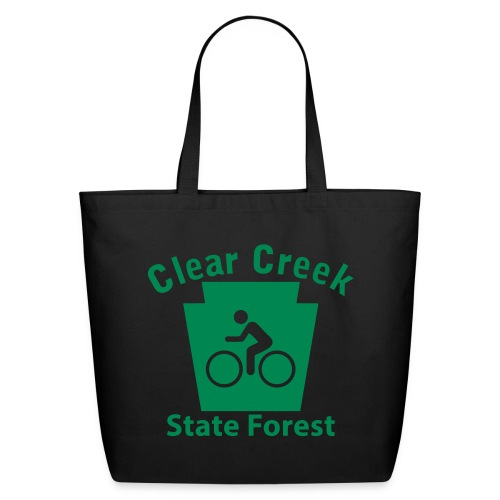 Clear Creek State Forest Keystone Biker - Eco-Friendly Cotton Tote