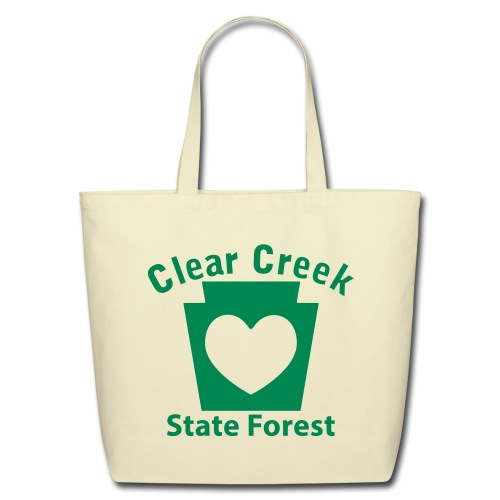 Clear Creek State Forest Keystone Heart - Eco-Friendly Cotton Tote