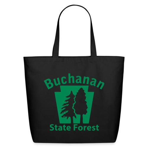 Buchanan State Forest Keystone w/Trees - Eco-Friendly Cotton Tote