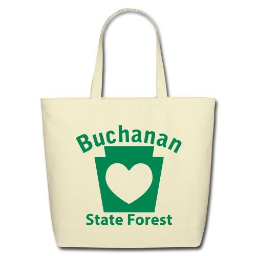Buchanan State Forest Keystone Heart - Eco-Friendly Cotton Tote