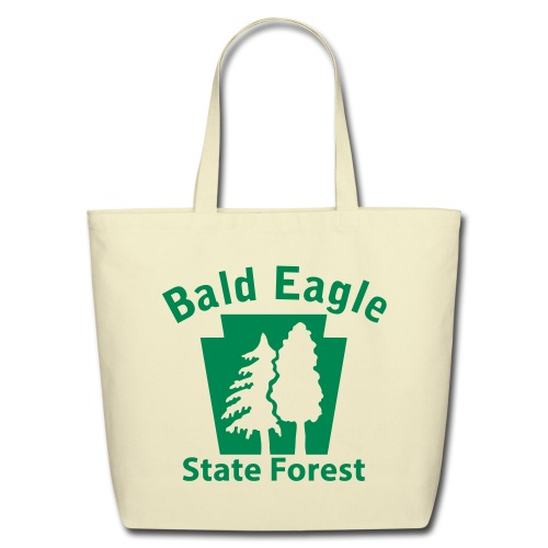 Bald Eagle State Forest Keystone w/Trees - Eco-Friendly Cotton Tote