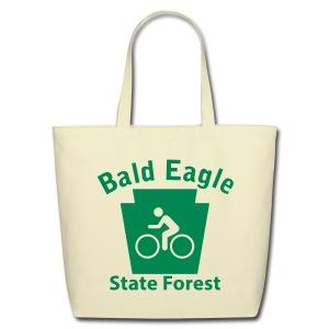 Bald Eagle State Forest Keystone Biker - Eco-Friendly Cotton Tote