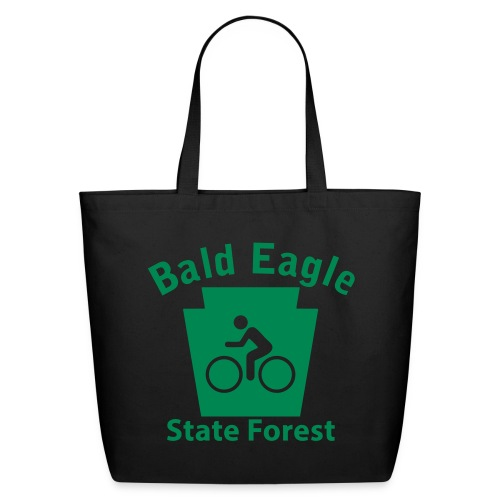 Bald Eagle State Forest Keystone Biker - Eco-Friendly Cotton Tote