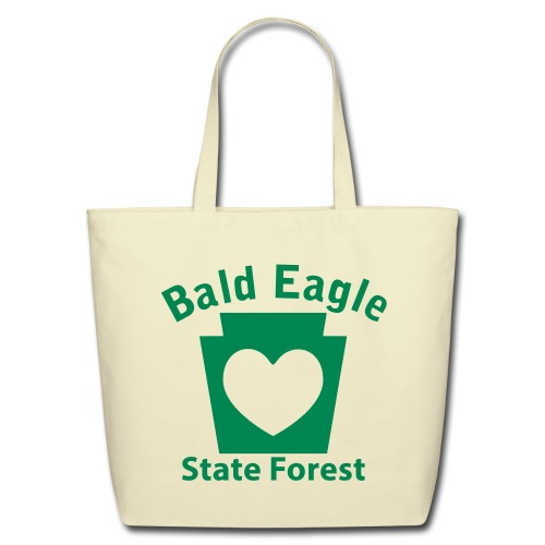 Bald Eagle State Forest Keystone Heart - Eco-Friendly Cotton Tote
