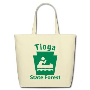 Tioga State Forest Keystone Boat - Eco-Friendly Cotton Tote