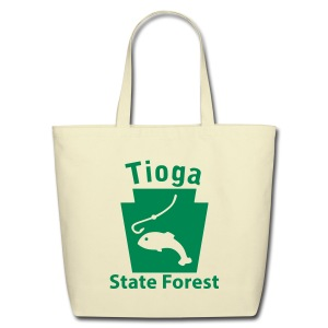 Tioga State Forest Keystone Fish - Eco-Friendly Cotton Tote