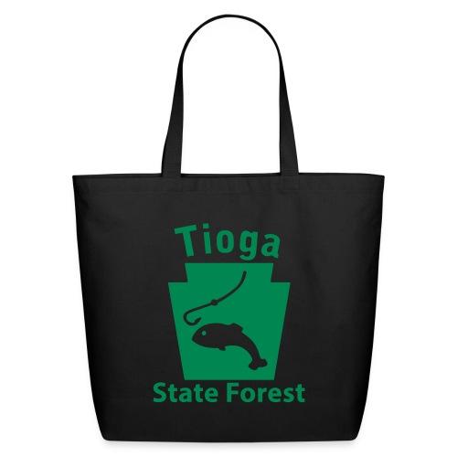 Tioga State Forest Keystone Fish - Eco-Friendly Cotton Tote