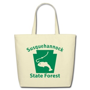 Susquehannock State Forest Keystone Fish - Eco-Friendly Cotton Tote