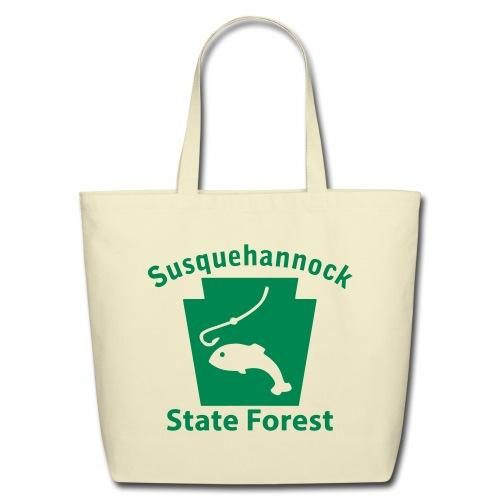 Susquehannock State Forest Keystone Fish - Eco-Friendly Cotton Tote