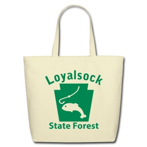 Loyalsock State Forest Keystone Fish - Eco-Friendly Cotton Tote