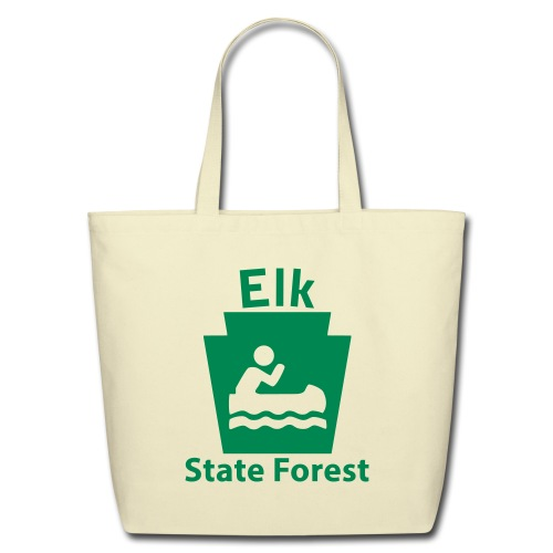 Elk State Forest Keystone Boat - Eco-Friendly Cotton Tote