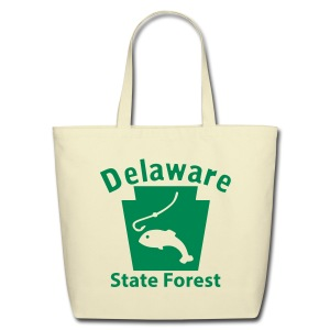 Delaware State Forest Keystone Fish - Eco-Friendly Cotton Tote