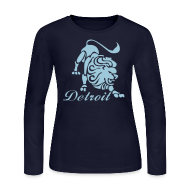 Long Sleeve Shirts ~ Women's Long Sleeve Jersey T-Shirt ~ Lions Vintage Women's Long Sleeve Jersey Tee