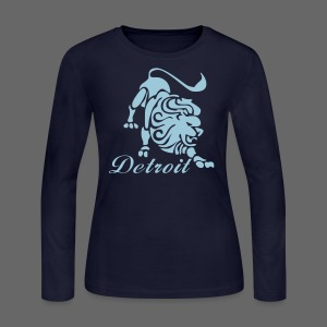 Lions Vintage Women's Long Sleeve Jersey Tee - Women's Long Sleeve Jersey T-Shirt