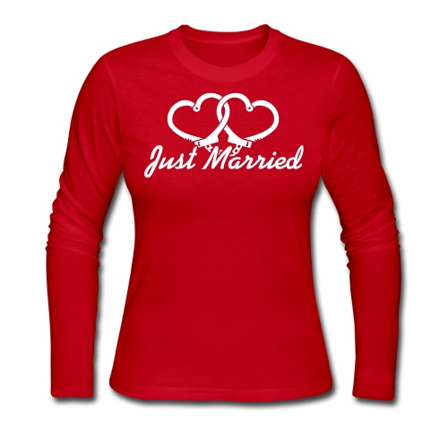 Just Married  - Women's Long Sleeve Jersey T-Shirt