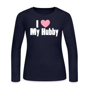 I [Heart] My Hubby  - Women's Long Sleeve Jersey T-Shirt