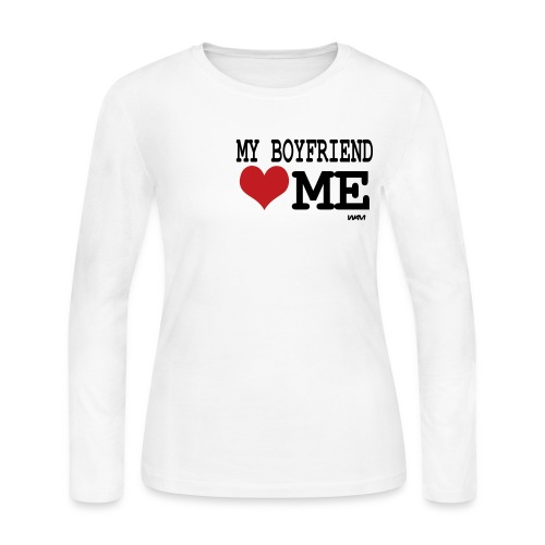 My Boyfriend [Heart] Me - Women's Long Sleeve Jersey T-Shirt