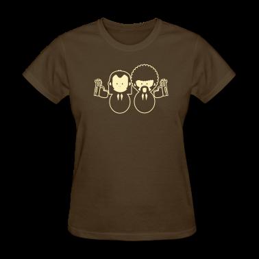 Pulp Fiction Vince & Jules Cartoons Women's T-Shirts