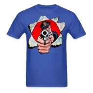 T-Shirts ~ Men's T-Shirt ~ Cop With Gun
