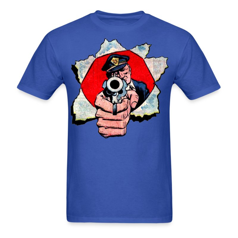 Cop With Gun - Men's T-Shirt