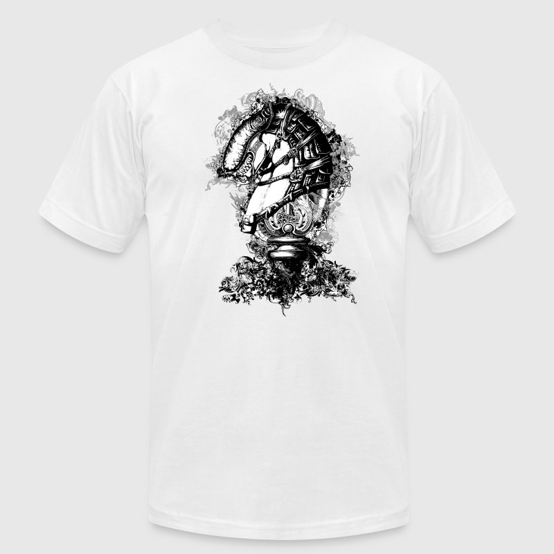 Chess Knight ( HD Pixel Design ) - Men's T-Shirt by American Apparel