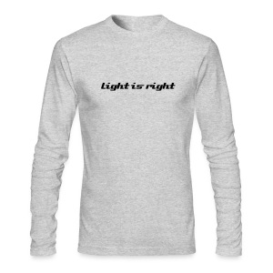 Light is Right / Simplify: American Apparel long sleeve t-shirt- Grey w/ Black - Men's Long Sleeve T-Shirt by Next Level