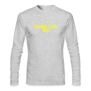 Track Day 101 / Simplify: American Apparel long-sleeve t-shirt- Grey w/ Yellow - Men's Long Sleeve T-Shirt by Next Level
