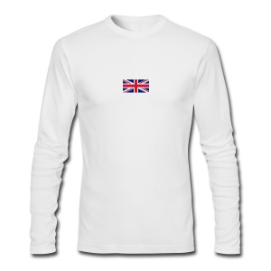 Union Jack / Simplify: American Apparel long sleeve t-shirt- White w/ Red - Men's Long Sleeve T-Shirt by Next Level