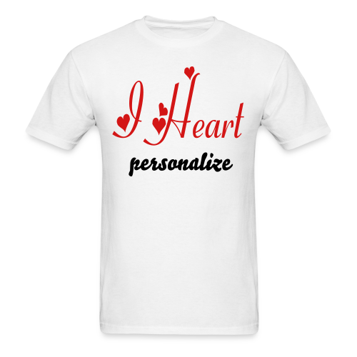 I heart personalize - Men's T-Shirt