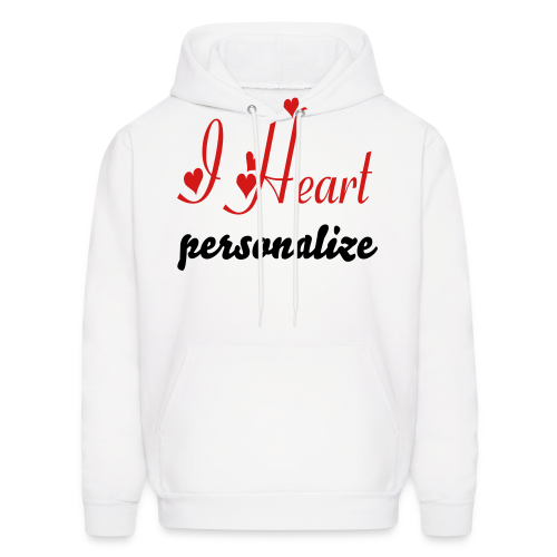 I heart personalize - Men's Hoodie