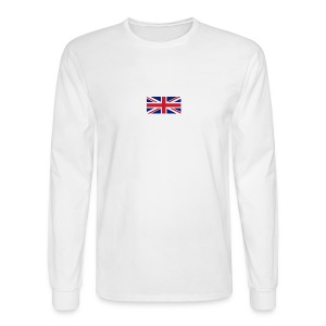 Union Jack / Simplify: Heavyweight long sleeve t-shirt- White w/ Red - Men's Long Sleeve T-Shirt