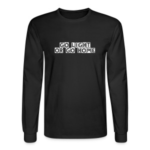 Go Light or Go Home / Simplify: Heavyweight long sleeve t-shirt- Black w/ White - Men's Long Sleeve T-Shirt