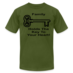 Family Holds The Key To Your Heart - Men's T-Shirt by American Apparel