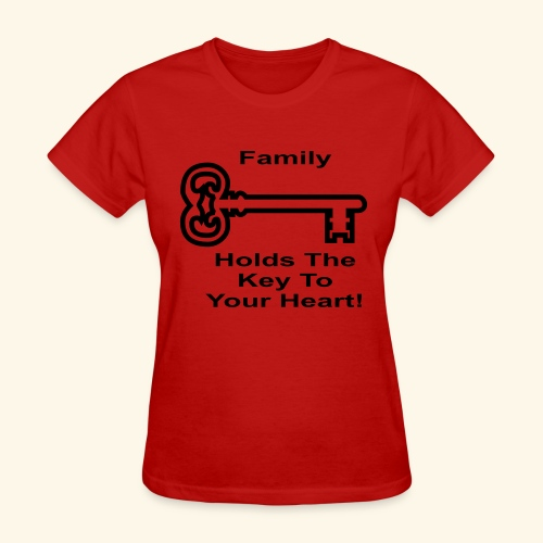 Family Holds The Key To Your Heart - Women's T-Shirt