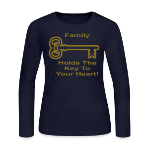 Family Holds The Key To Your Heart - Women's Long Sleeve Jersey T-Shirt
