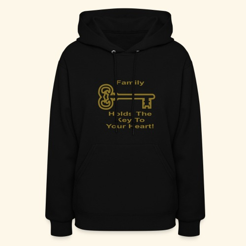 Family Holds The Key To Your Heart - Women's Hoodie
