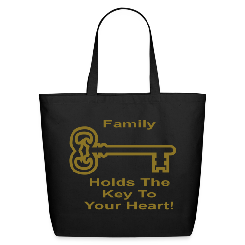 Family Holds The Key To Your Heart - Eco-Friendly Cotton Tote